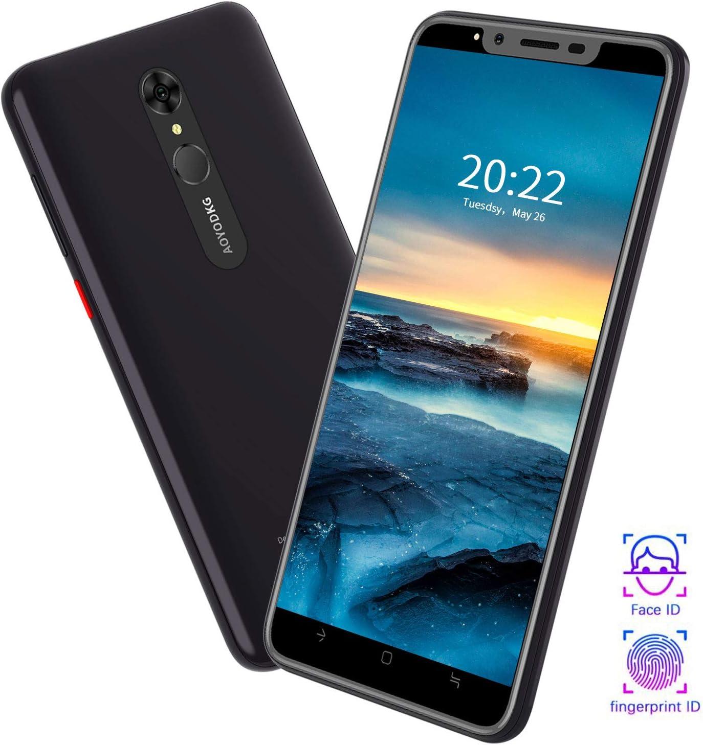 Moviles Libres 4G 5.5 Pulgadas 8MP+5MP Fingerprint Unlock 1GB RAM 16GB ROM/Extendida 128GB Telefono movil 4800mAh Bateria, Dual SIM Móviles y Smartphone Libres Android 9.0
