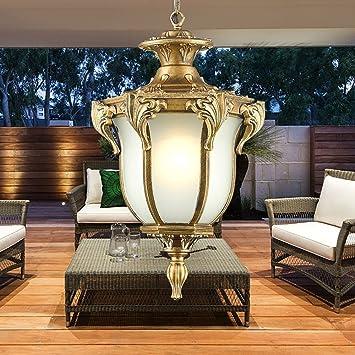 Modeen Lámpara de techo de cristal de aluminio impermeable ...