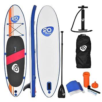 Tabla de surf hinchable GYMAX SUP, para hacer paddle surf, con bomba, bolsa