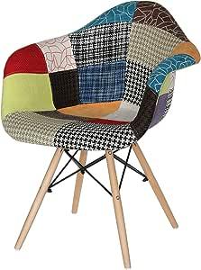 Vogue Designer Dining Chair, Multi Color - H 83 cm x W 47 cm x D 62 cm