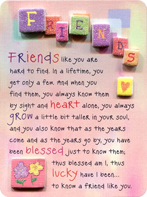 Amazoncom Miniature Easel Print With Magnet Friends Like You Are