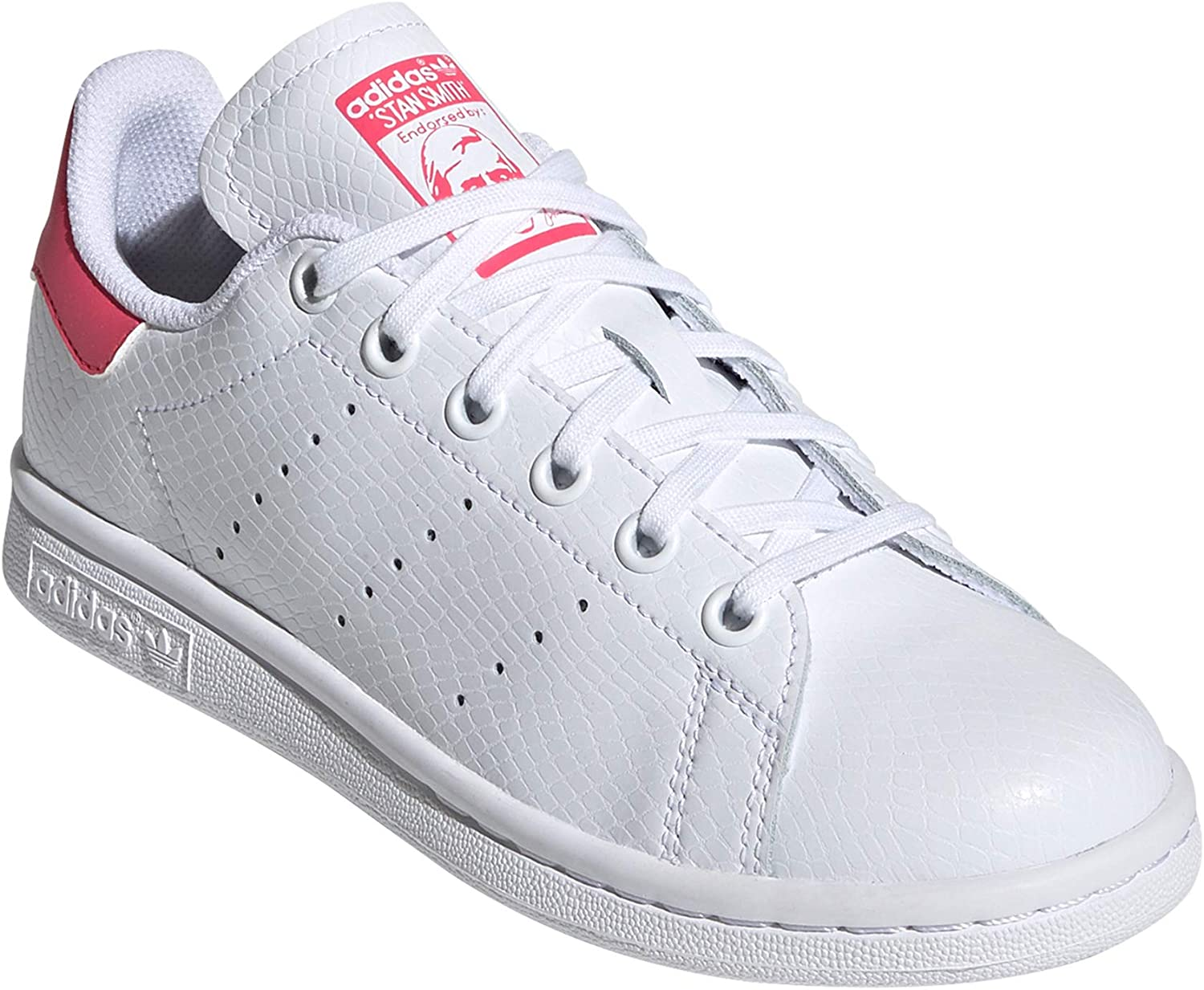 adidas Stan Smith Schuhe Damen. Low-Top, Trainer, Sneaker.Ms White Bold Pink