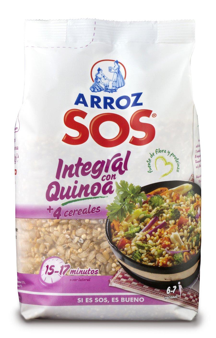 SOS- Arroz Integral Con Quinoa + 4 Cereales 500 g: Amazon.es: Alimentación y bebidas