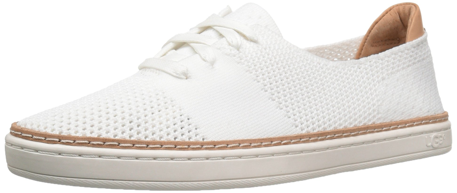 UGG Women's Pinkett Fashion Sneaker, White, 6 B US