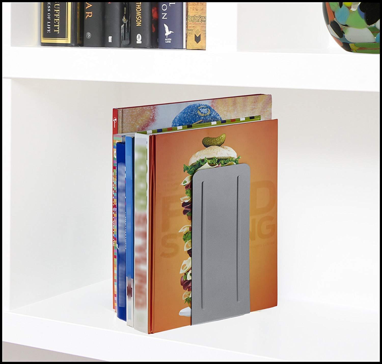 """Color Blanco Acrimet Sujetador de Libros Jumbo 9/"""" Altura 23cm Paquete de 1 par"""