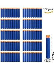 StillCool Nerf Darts 7.2cm 100 Stück Blue Foam Pfeile Patronen für N-Strike Elite Series Blasters Longshot Vulcan Spielzeug Stampede Minigun Recon scharfschützengewehr Zubehör(Ohne Bandolier )