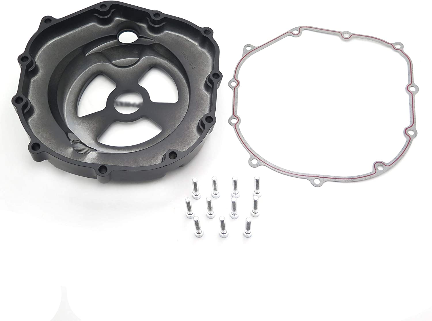 Black Right Engine Clutch Cover See Through Kawasaki Zx14R Zzr1400 2006-2014 w// gasket HTT