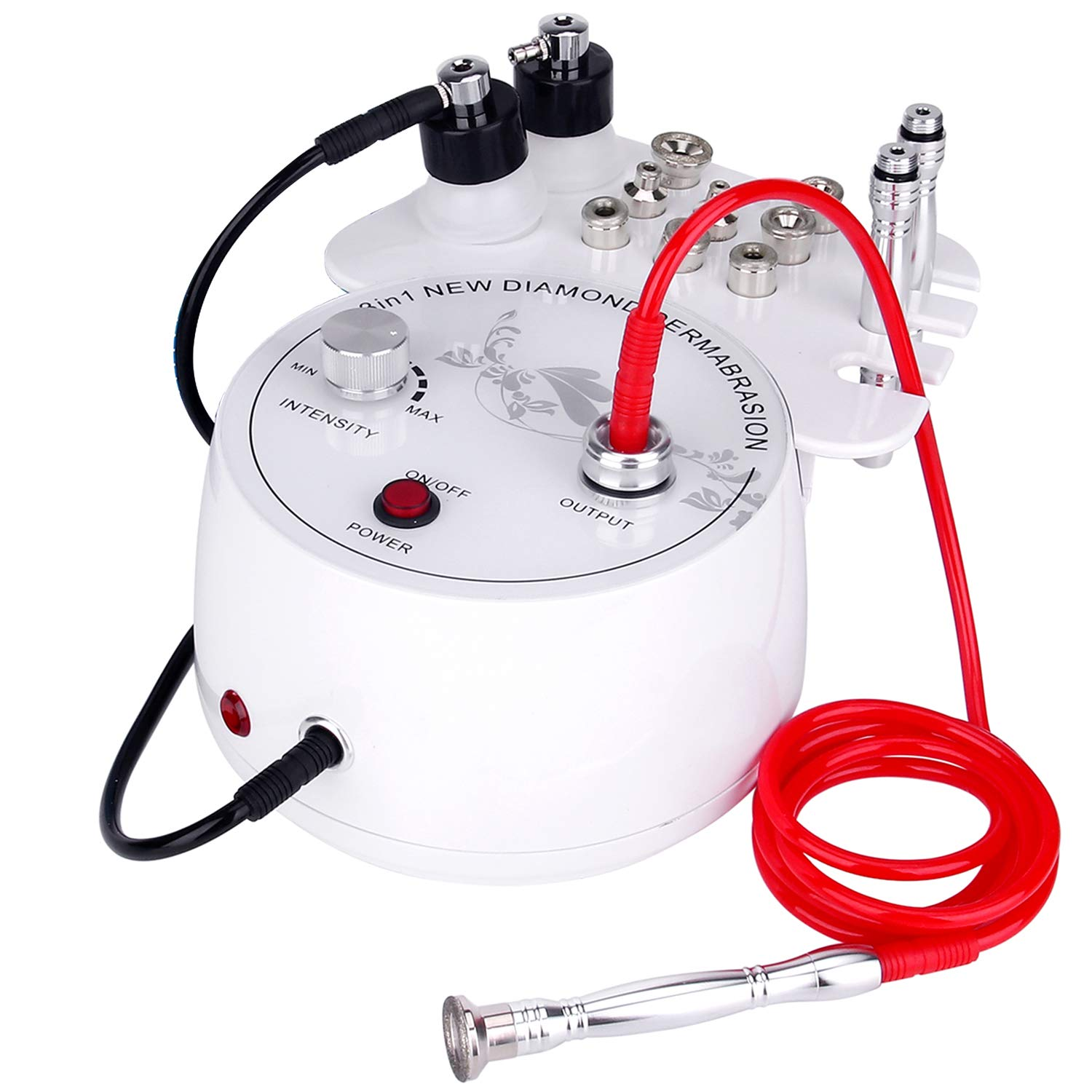 3 in 1 Diamond Microdermabrasion, Doris Direct Dermabrasion Machine Facial Care Salon Equipment for Personal Home Use (Suction Power: 0-55cmHg) by mcwdoit
