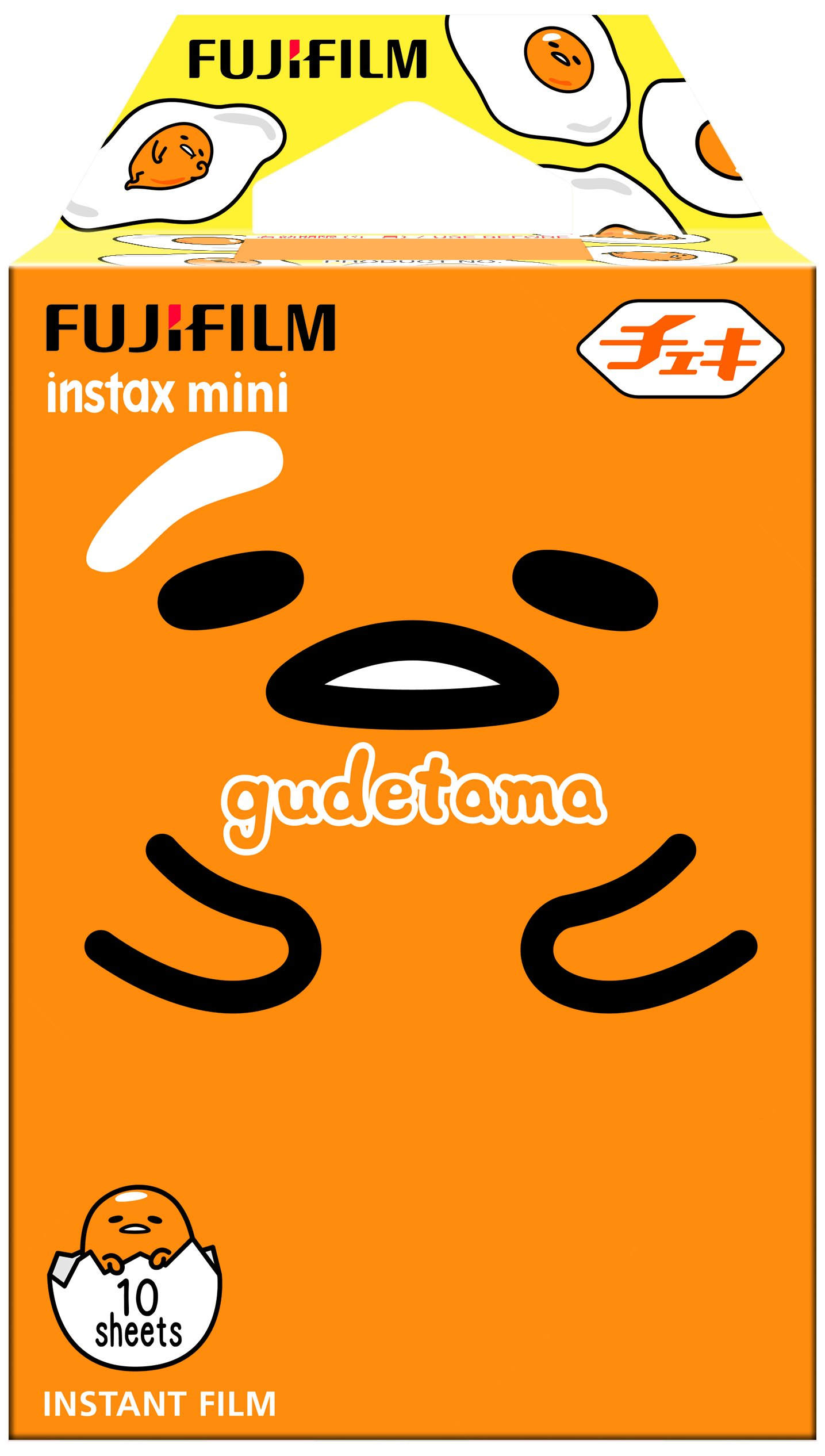 Fujifilm Instax Mini Instant Film (10 sheets, Sanrio Gudetama 2017 Edition)