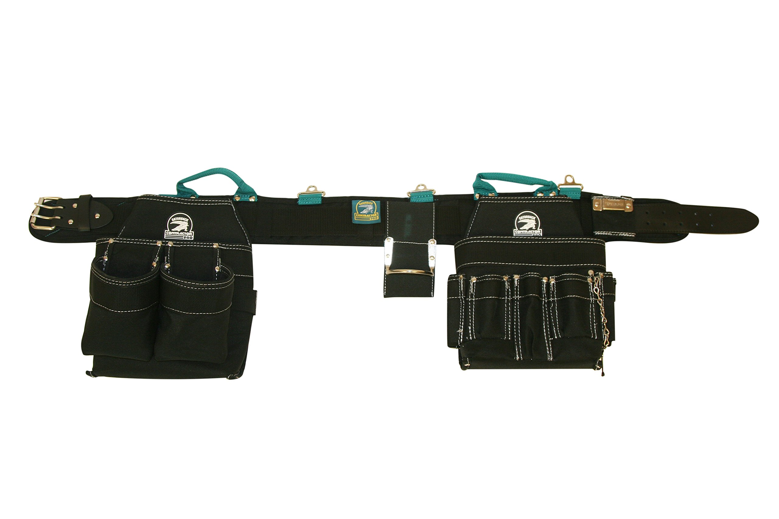 Gatorback Professional Electrician's Tool Belt Combo w/ Padded Comfort Belt (Medium 31-34 Inch Waist). Ventilated Comfort Belt with Heavy Duty Pouches for Electricians, Carpenters, Hvac, Drywaller. by Contractor Pro (Image #1)