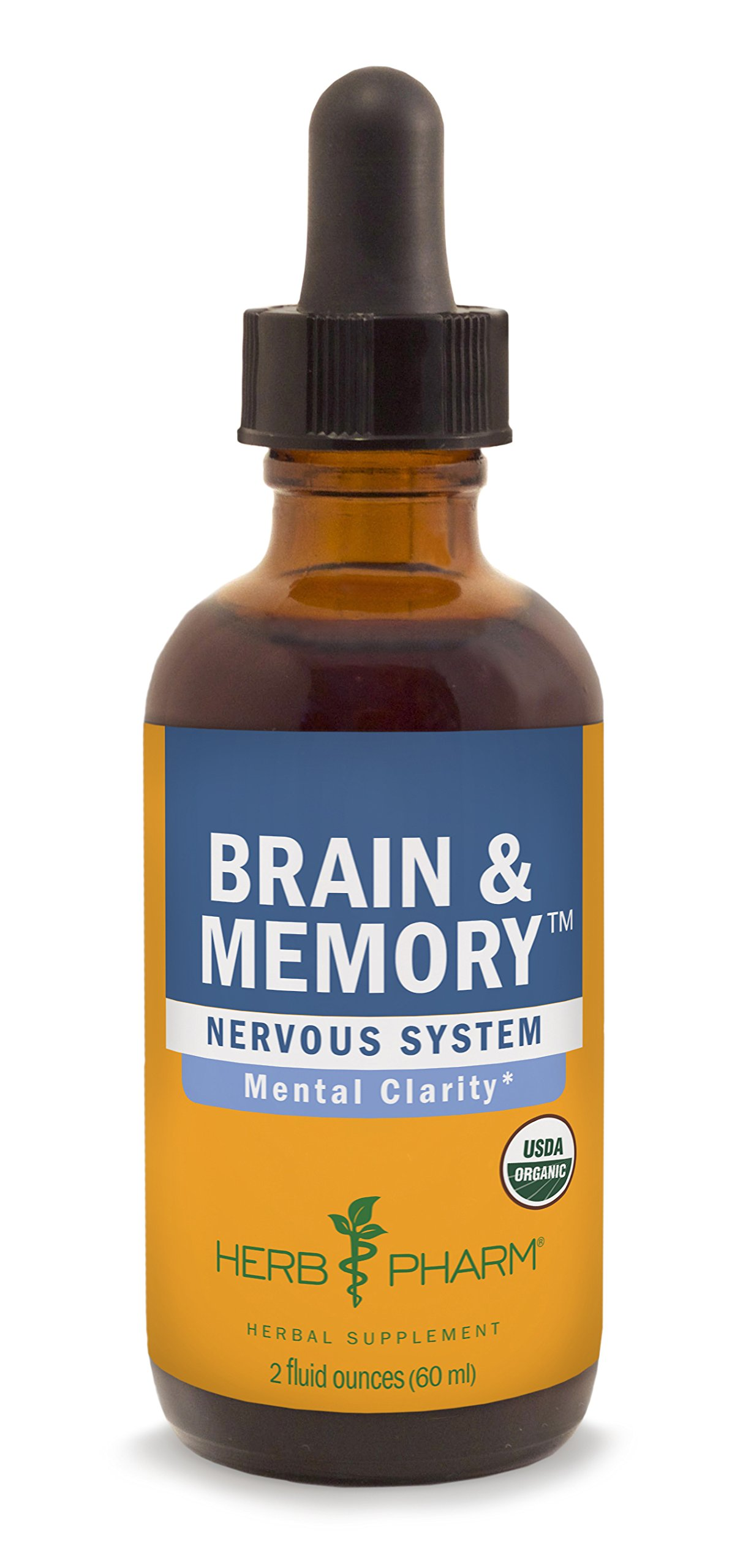 Herb Pharm Brain and Memory Herbal Formula with Ginkgo for Memory and Concentration- 2 Ounce