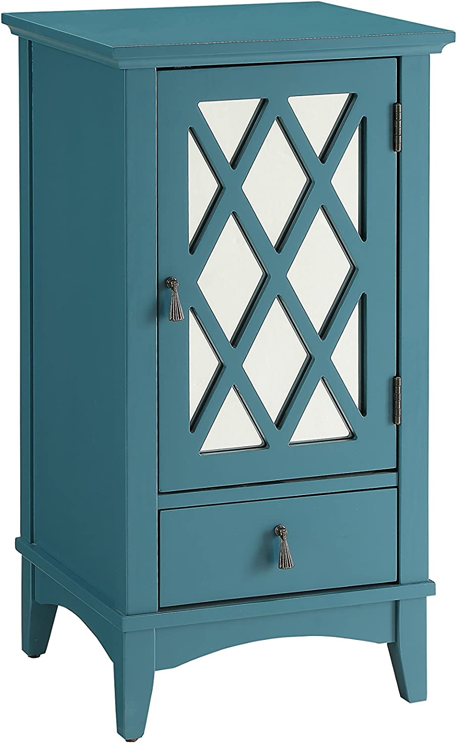 ACME Furniture Acme 97380 Ceara Floor Cabinet, Teal, One Size