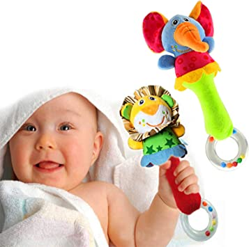 Soft rattle and teether