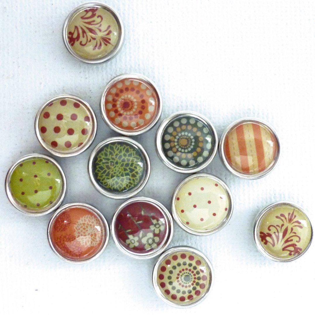 12 mini magnets époxy - Ø12mm - Automne - Graines créatives Graine créative