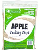 Apple Wood Smoker Chips- 100% Natural, Fine Wood Smoking and Barbecue Chips- 2 lb. Bag