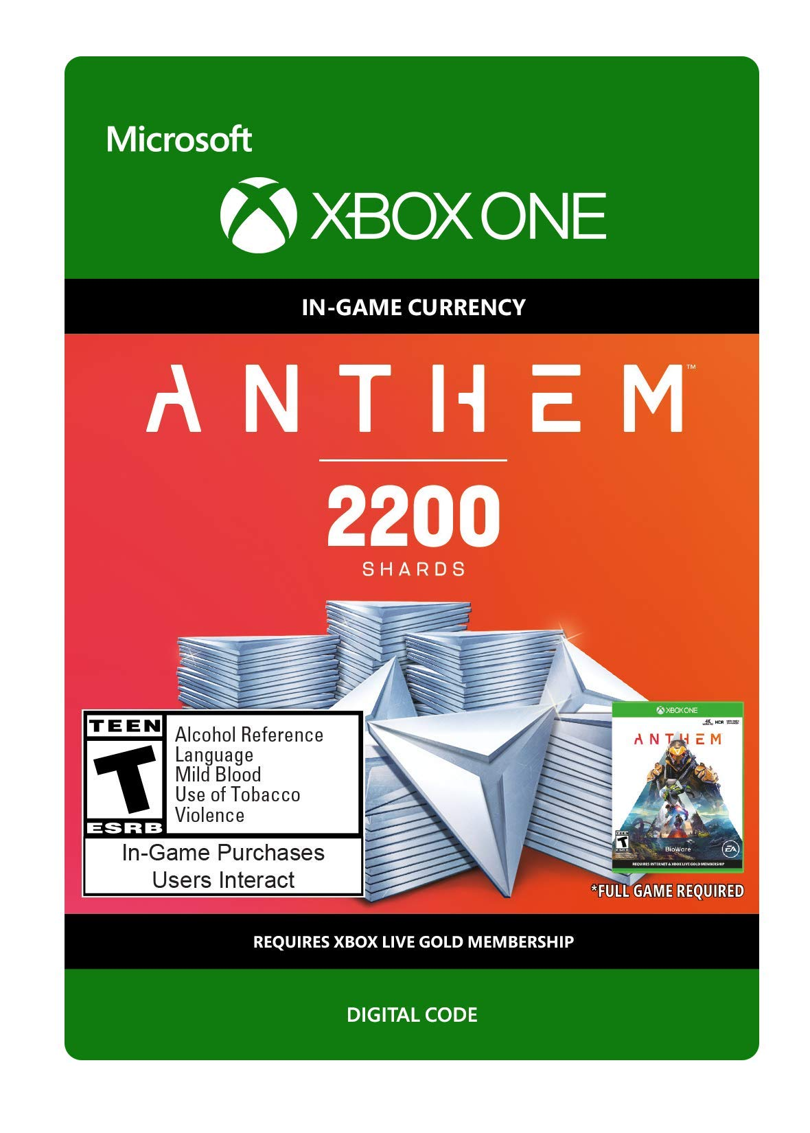 Anthem: 2200 Shards Pack - Xbox One [Digital Code]