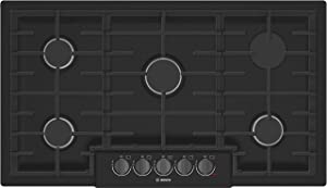 Bosch NGM8646UC 800 Series 36 Inch Wide Built-In Gas Cooktop with 5 Sealed Burne, Black