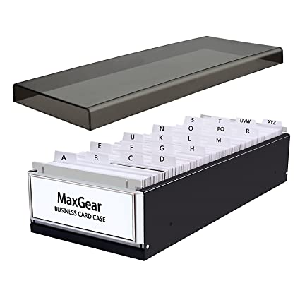 Amazon maxgear business card organizer business card file name maxgear business card organizer business card file name card case holder card storage box organizer office reheart Gallery