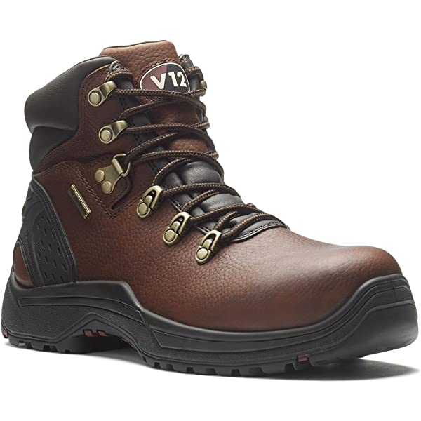 UK Size 7 V12 Storm Brown Pull-Up S3 Waterproof Hiker Boot