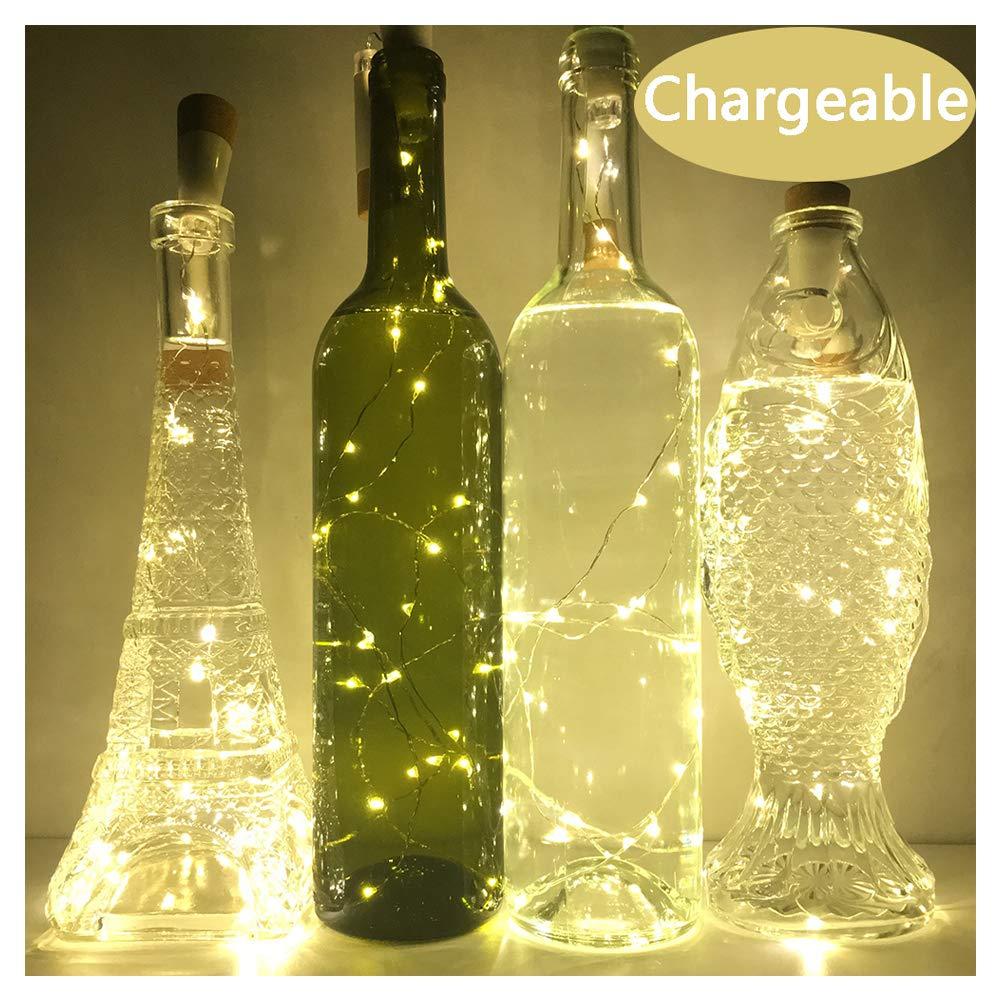 Amazon.com : NeoJoy Wine Cork Lights, Rechargeable Bottle Fairy ...