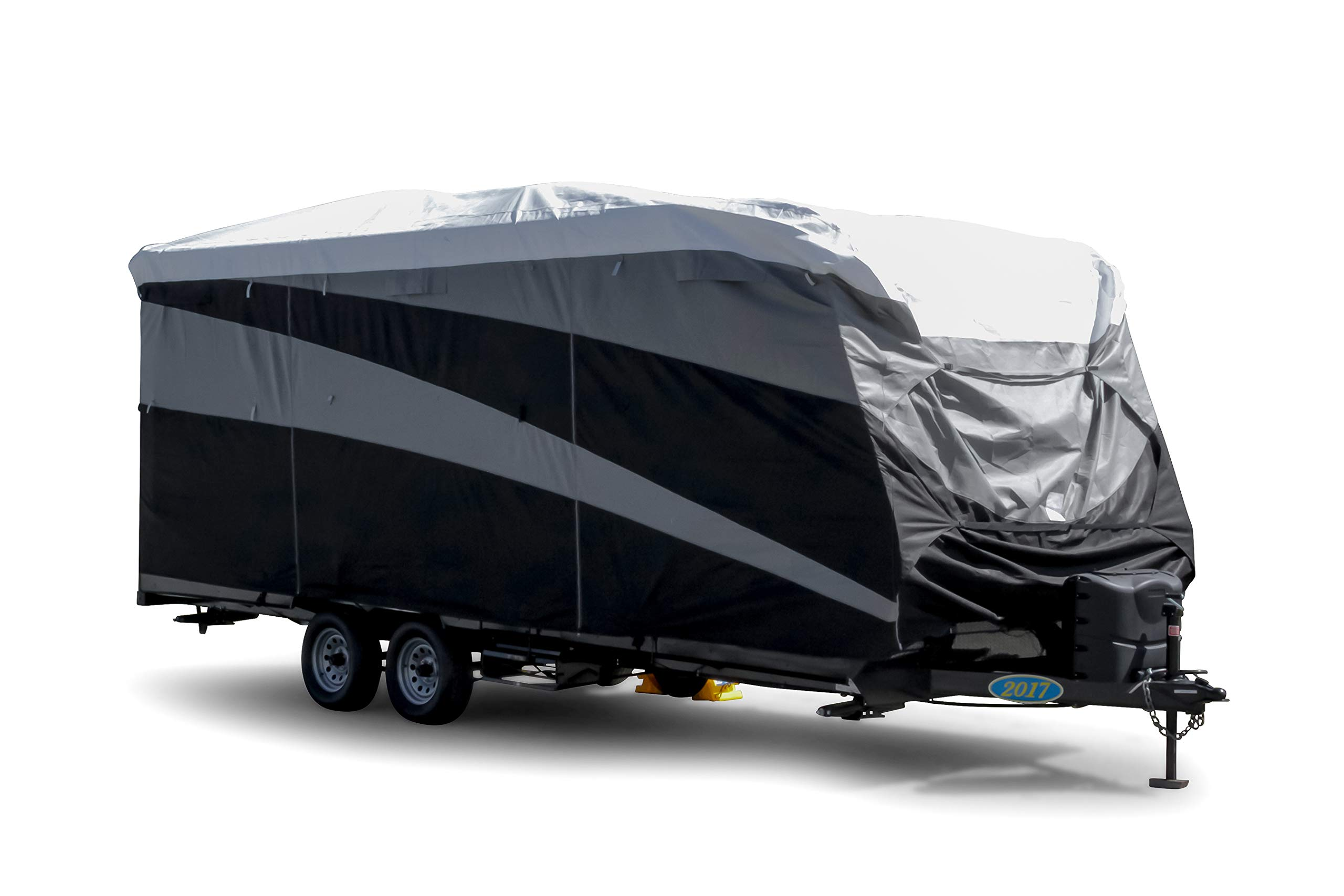 Camco ULTRAGuard Supreme RV Cover-Extremely Durable Design Fits Travel Trailers 26' -28', Weatherproof with UV Protection and Dupont Tyvek Top (56132)