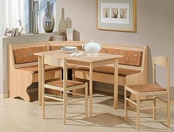 Expendio Eckbankgruppe Helena Buche Terracotta 2x Stuhl Tisch