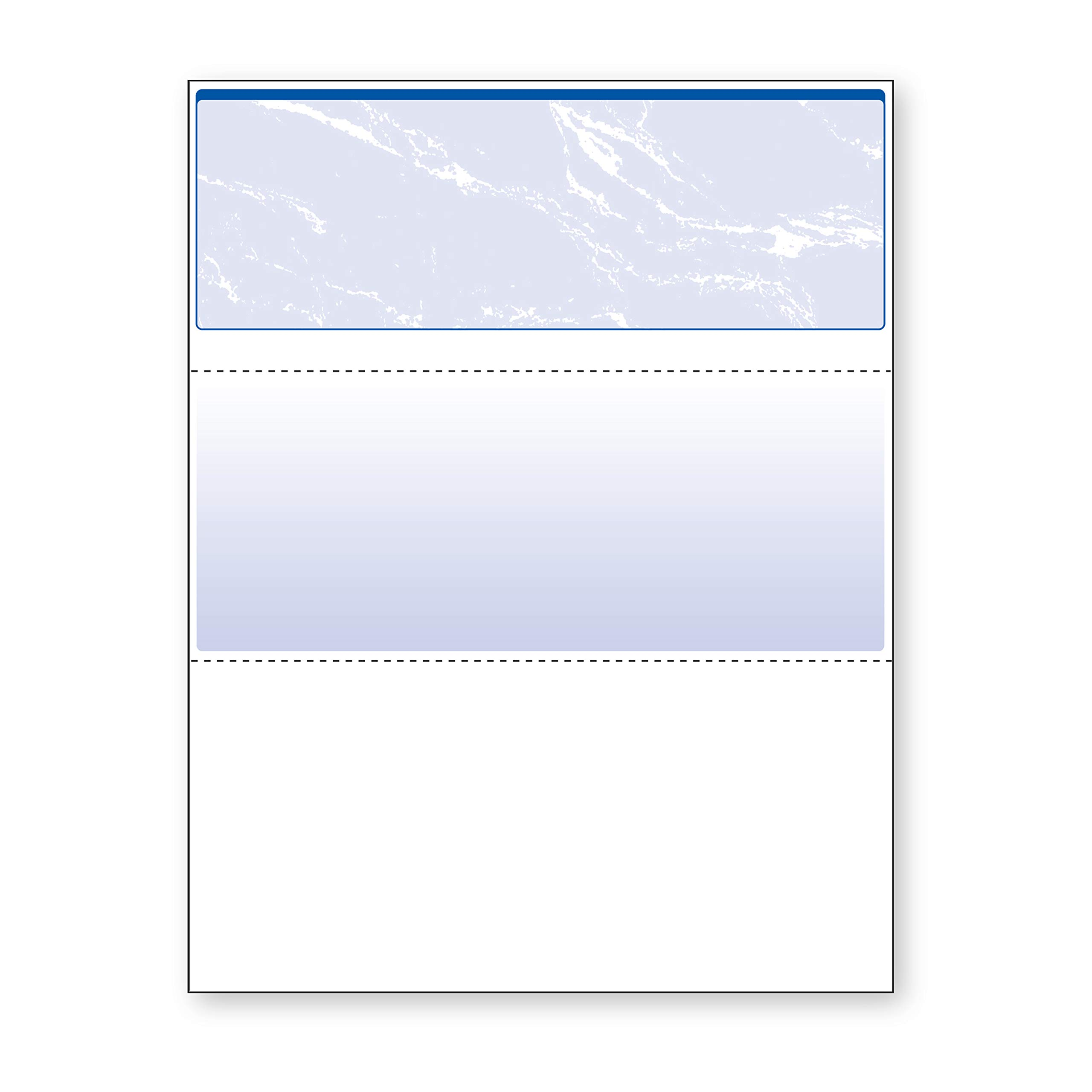 DocuGard Standard Blue Marble Top Check, 24 Pound, 8.5 x 11 Inches, 500 Sheets (04501) by DocuGard