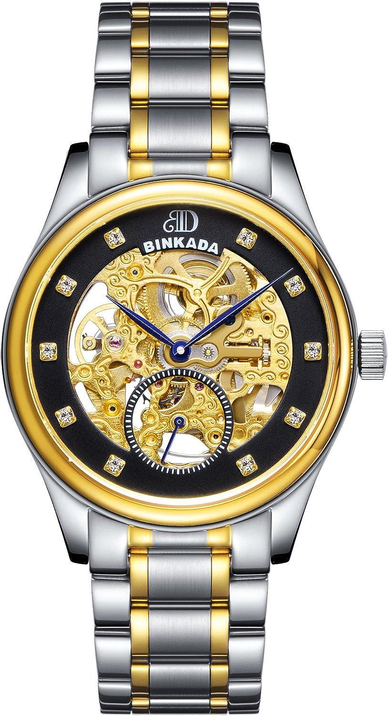 BINKADA For Man Mechanical Tourbillon自動ブラックダイヤルメンズ腕時計# 7001 a01 – 4 B00Y7GVLTM