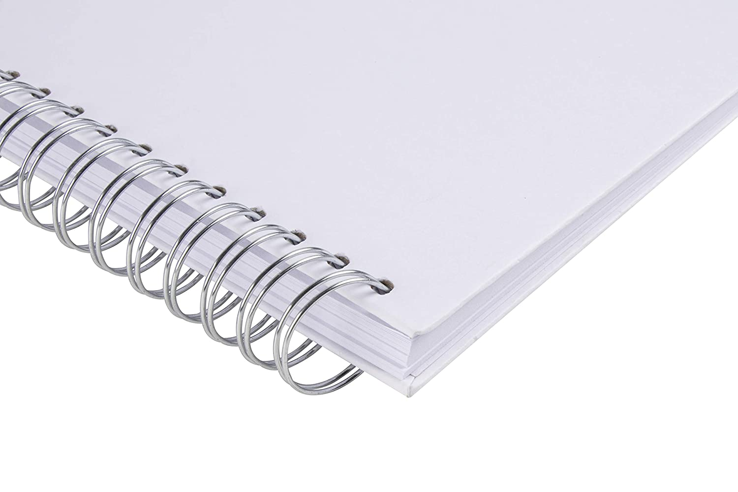 Blank Wedding Guest Book Diary Journal Hardcover Scrapbook 40 Sheets Photo Album Square Spiral Bound Cardboard Cover Sketchbook for Kids DIY Craft White 8 x 8 Inches