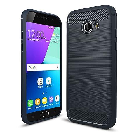 LXHGrowH Funda Samsung Galaxy A5 2017, [Ultra Delgada] Carcasa para Samsung Galaxy A5 2017 A520 Cover Silicona TPU Protectora Color Azul