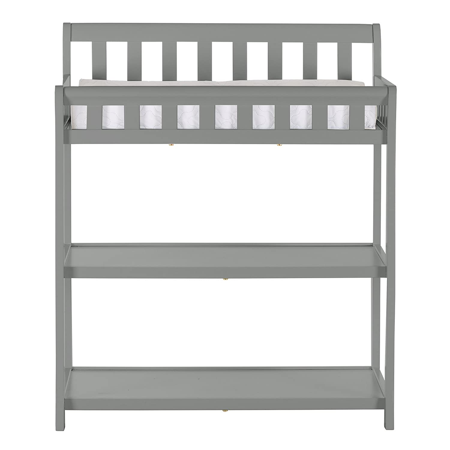 Dream On Me Ashton Changing Table White Navy with Two Sided Contour Changing Pad