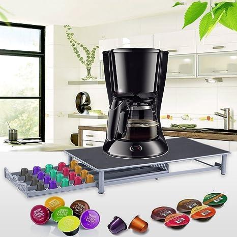 Binghotfireuk 40 Cápsulas de Almacenamiento Soporte de Metal para Máquina de café Portátil Cápsulas de café