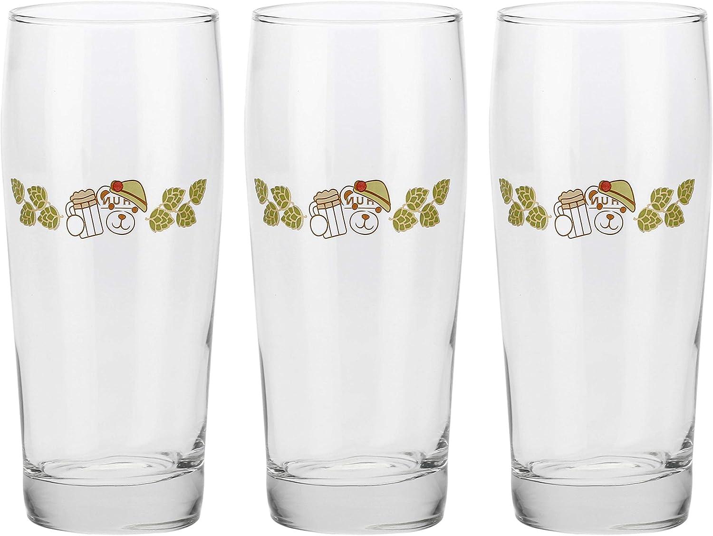 Thun – Juego de 3 vasos – Cristal – Cerveza rubia – 0,50 cl – H 18 cm – Ø 7 cm