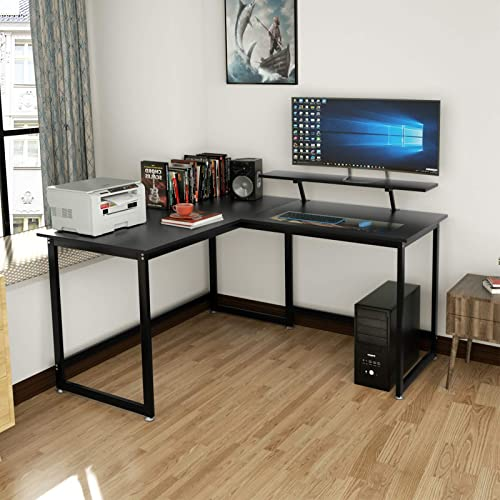 DEWEL L Shaped Desk Large Computer Gaming Desk