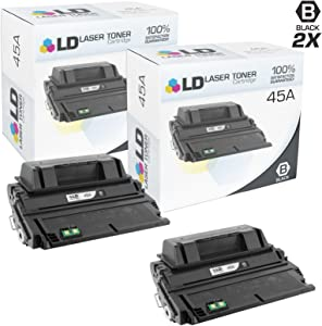 LD Compatible Toner Cartridge Replacement for HP 45A Q5945A (Black, 2-Pack)