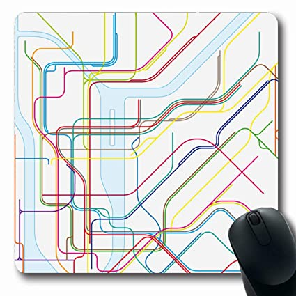 Creative Subway Map.Amazon Com Ahawoso Mousepads For Computers Transport City Colored