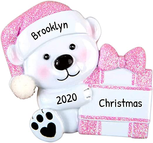 Present Christmas 2020 Amazon.com: Personalized Baby Bear Hold Present Christmas Tree