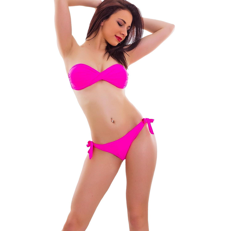 Bikini costume donna mare swimwear due pezzi fascia incrociata brasiliana B0603