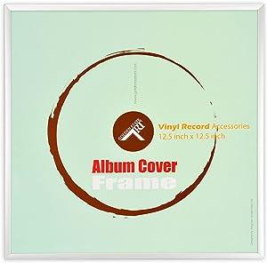 Golden State Art, 12.5x12.5 Aluminum Vinyl Record Album Cover Frame (Silver)