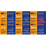 3 Full Sets JETPLAY : 18 High Capacity Compatible Ink Cartridges Multipack T 487 - T 481 T 482 T 483 T 484 T 485 T 486 for Epson Stylus Photo R200 R220 R300 R300M R320 R325 R340 R350 RX500 RX600 RX620 RX640 ink jet Printers JETPLAY Replacements for T0481/T0482/T0483/T0484/T0485/T486