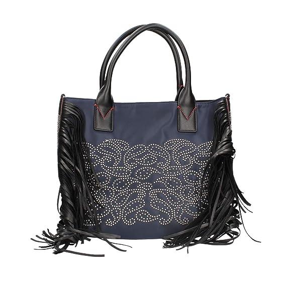 c29cf49e3efd1 Pinko 1h20j4-y4pn Shopping Bag Women Blue TU  Amazon.co.uk  Clothing
