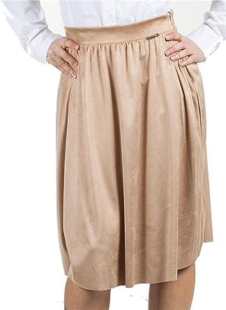 Otzi- Falda de tablas, por debajo de la rodilla, para chica o ...