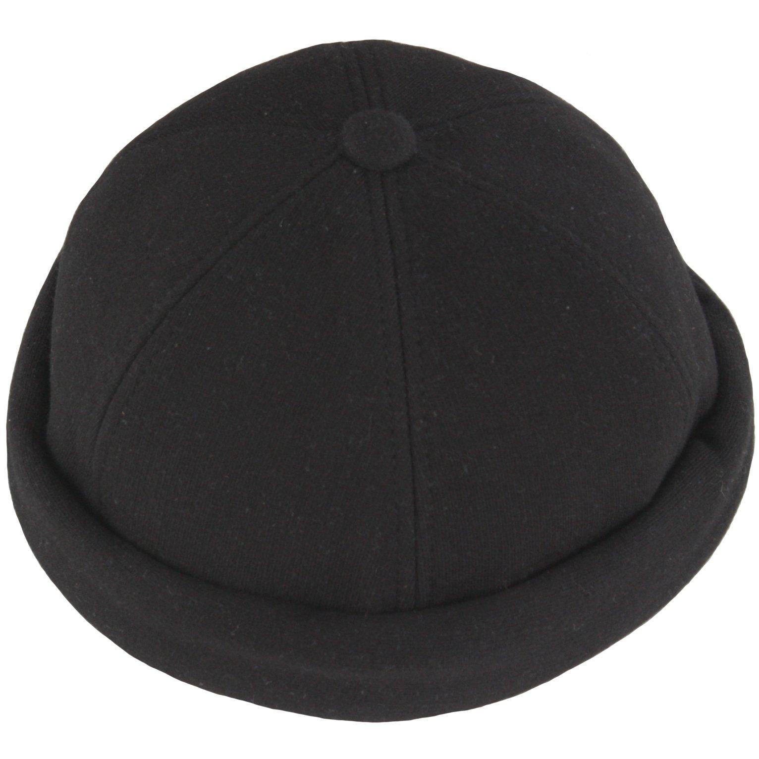 RaOn B215 Unisex Cotton Soft Style No Bill Design Club Ball Cap Baseball Hat Truckers (Black)