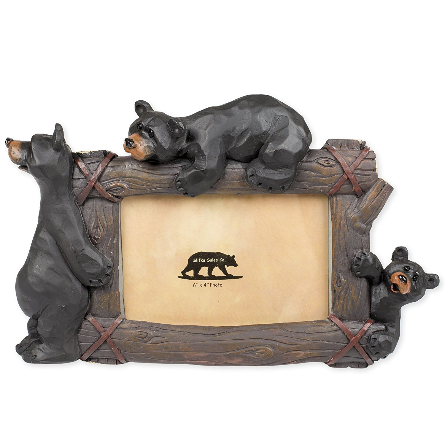 Climbing Bears 11 x 2 x 7.5 Inch Resin Crafted Tabletop 4x6 Picture Frame by Slifka Sales Co.