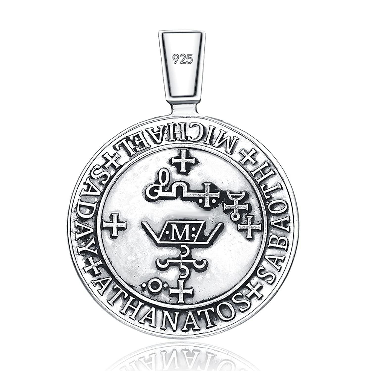 Amazon archangel stmichael seal protection medal christian amazon archangel stmichael seal protection medal christian talisman sterling 925 silver pendant necklace jewelry biocorpaavc Images