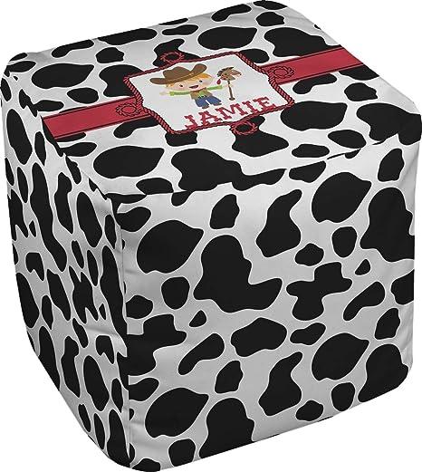 Sensational Amazon Com Cowprint W Cowboy Cube Pouf Ottoman 13 Dailytribune Chair Design For Home Dailytribuneorg