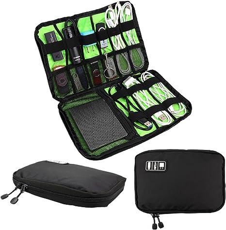 Organizador Viaje Estuche Bolsa para USB Flash Drive, discos duros, teléfono, móvil, cable: Amazon.es: Informática