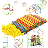 Straw Constructor Stem Building Toys 300 Pcs-Colorful Interlocking Plastic Enginnering Toys- Educational- Safe For Kids- Develops Motor Skills-Construction Blocks- For Boys And Girls