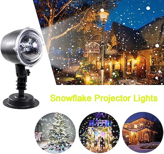 Lámpara De Proyector, Nieve Cayendo Animación Proyector Giratorio ...