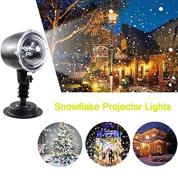 Proiettore Luci Di Natale Amazon.Proiettore Luci Di Natale Neve Che Cade Animato Proiettore Rotante